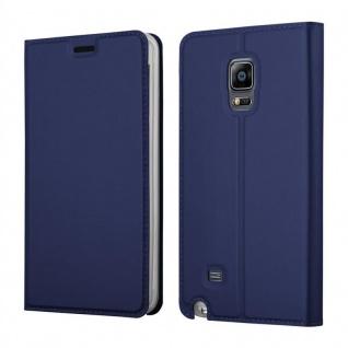 Cadorabo Hülle für Samsung Galaxy NOTE EDGE in CLASSY DUNKEL BLAU - Handyhülle mit Magnetverschluss, Standfunktion und Kartenfach - Case Cover Schutzhülle Etui Tasche Book Klapp Style