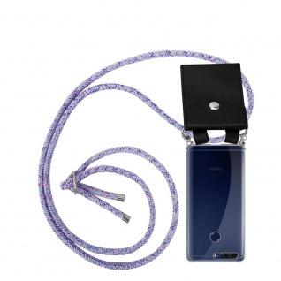 Cadorabo Handy Kette für Honor 8 PRO in UNICORN - Silikon Necklace Umhänge Hülle mit Silber Ringen, Kordel Band Schnur und abnehmbarem Etui - Schutzhülle