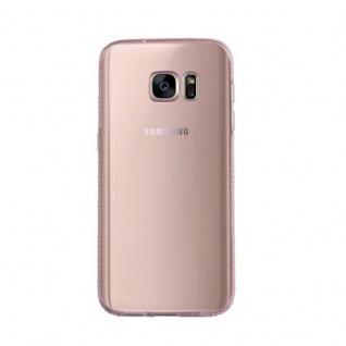 Cadorabo Hülle für Samsung Galaxy S7 - Hülle in TRANSPARENT ROSA ? Handyhülle aus TPU Silikon im Strass Design - Silikonhülle Schutzhülle Ultra Slim Soft Back Cover Case Bumper - Vorschau 2