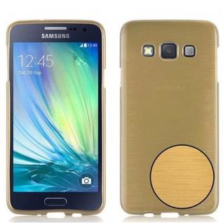 Cadorabo Hülle für Samsung Galaxy A3 2015 in GOLD - Handyhülle aus flexiblem TPU Silikon - Silikonhülle Schutzhülle Ultra Slim Soft Back Cover Case Bumper