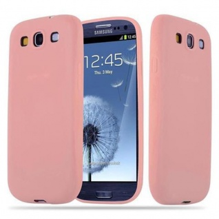 Cadorabo Hülle für Samsung Galaxy S3 / S3 NEO in CANDY ROSA - Handyhülle aus flexiblem TPU Silikon - Silikonhülle Schutzhülle Ultra Slim Soft Back Cover Case Bumper