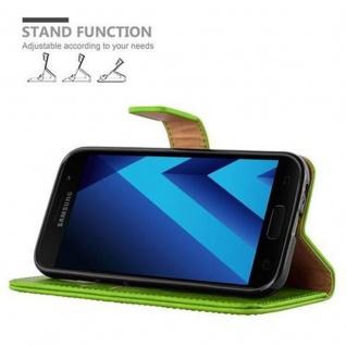 Cadorabo Hülle für Samsung Galaxy A3 2017 in GRAS GRÜN ? Handyhülle mit Magnetverschluss, Standfunktion und Kartenfach ? Case Cover Schutzhülle Etui Tasche Book Klapp Style - Vorschau 5