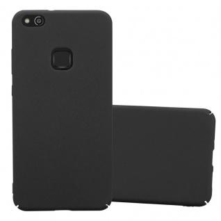 Cadorabo Hülle für Huawei P10 LITE in FROSTY SCHWARZ - Hardcase Handyhülle aus Plastik gegen Kratzer und Stöße - Schutzhülle Bumper Ultra Slim Back Case Hard Cover
