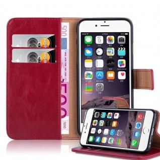 Cadorabo Hülle für Apple iPhone 6 PLUS / iPhone 6S PLUS in WEIN ROT - Handyhülle mit Magnetverschluss, Standfunktion und Kartenfach - Case Cover Schutzhülle Etui Tasche Book Klapp Style