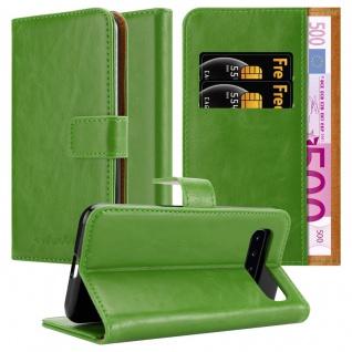 Cadorabo Hülle für Samsung Galaxy S10 in GRAS GRÜN Handyhülle mit Magnetverschluss, Standfunktion und Kartenfach Case Cover Schutzhülle Etui Tasche Book Klapp Style