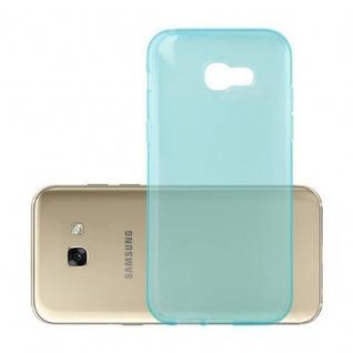 Cadorabo Hülle für Samsung Galaxy A3 2017 in TRANSPARENT BLAU - Handyhülle aus flexiblem TPU Silikon - Silikonhülle Schutzhülle Ultra Slim Soft Back Cover Case Bumper