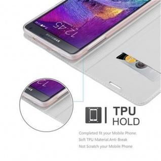 Cadorabo Hülle für Samsung Galaxy NOTE 4 in CLASSY SILBER - Handyhülle mit Magnetverschluss, Standfunktion und Kartenfach - Case Cover Schutzhülle Etui Tasche Book Klapp Style - Vorschau 2