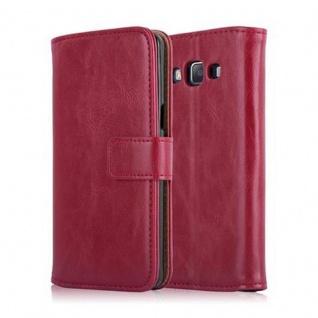 Cadorabo Hülle für Samsung Galaxy A5 2015 in WEIN ROT - Handyhülle mit Magnetverschluss, Standfunktion und Kartenfach - Case Cover Schutzhülle Etui Tasche Book Klapp Style - Vorschau 2