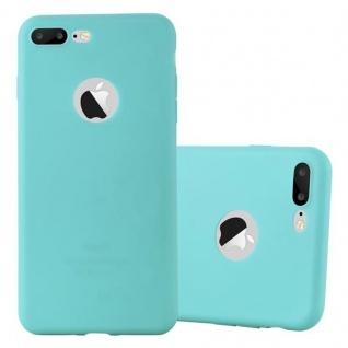 Cadorabo Hülle für Apple iPhone 8 PLUS / iPhone 7 PLUS / iPhone 7S PLUS - Hülle in CANDY BLAU ? Handyhülle aus TPU Silikon im Candy Design - Ultra Slim Soft Backcover Case Bumper