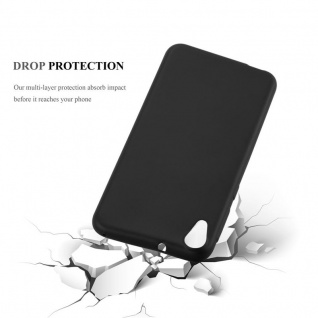 Cadorabo Hülle für HTC DESIRE 820 in METALLIC SCHWARZ - Handyhülle aus flexiblem TPU Silikon - Silikonhülle Schutzhülle Ultra Slim Soft Back Cover Case Bumper - Vorschau 3