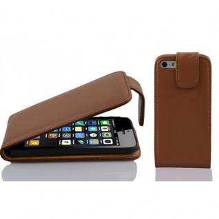 Cadorabo Hülle für Apple iPhone 5C in KAKAO BRAUN - Handyhülle im Flip Design aus glattem Kunstleder - Case Cover Schutzhülle Etui Tasche Book Klapp Style