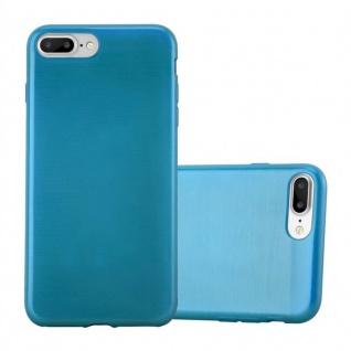Cadorabo Hülle für Apple iPhone 8 PLUS / iPhone 7 PLUS / iPhone 7S PLUS in TÜRKIS Handyhülle aus flexiblem TPU Silikon Silikonhülle Schutzhülle Ultra Slim Soft Back Cover Case Bumper