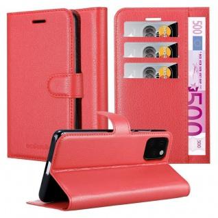 Cadorabo Hülle für Apple iPhone 11 PRO (XI PRO) in KARMIN ROT - Handyhülle mit Magnetverschluss, Standfunktion und Kartenfach - Case Cover Schutzhülle Etui Tasche Book Klapp Style