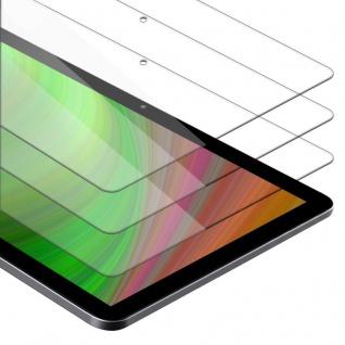 """"""" Cadorabo 3x Panzer Folie für Huawei MediaPad T5 10 (10.1"""" Zoll) - Schutzfolie in KRISTALL KLAR - 3er Pack Gehärtetes (Tempered) Display-Schutzglas in 9H Härte mit 3D Touch Kompatibilität"""""""