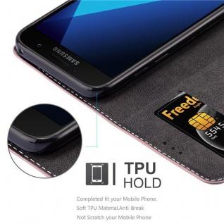 Cadorabo Hülle für Samsung Galaxy A3 2017 in GOLD SCHWARZ ? Handyhülle mit Magnetverschluss, Standfunktion und Kartenfach ? Case Cover Schutzhülle Etui Tasche Book Klapp Style - Vorschau 2