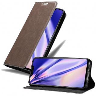 Cadorabo Hülle für Huawei P SMART PLUS in KAFFEE BRAUN Handyhülle mit Magnetverschluss, Standfunktion und Kartenfach Case Cover Schutzhülle Etui Tasche Book Klapp Style