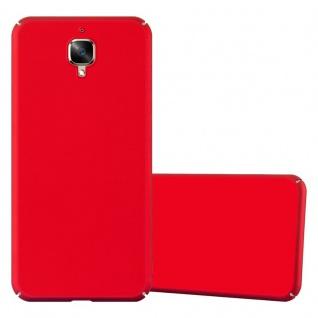 Cadorabo Hülle für OnePlus 3 / 3T in METALL ROT ? Hardcase Handyhülle aus Plastik gegen Kratzer und Stöße ? Schutzhülle Bumper Ultra Slim Back Case Hard Cover