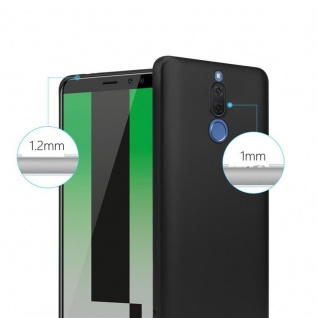 Cadorabo Hülle für Huawei MATE 10 LITE in METALLIC SCHWARZ - Handyhülle aus flexiblem TPU Silikon - Silikonhülle Schutzhülle Ultra Slim Soft Back Cover Case Bumper - Vorschau 4