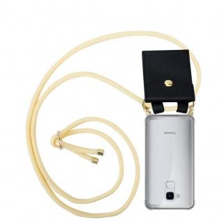 Cadorabo Handy Kette für Honor 5C in CREME BEIGE Silikon Necklace Umhänge Hülle mit Gold Ringen, Kordel Band Schnur und abnehmbarem Etui Schutzhülle