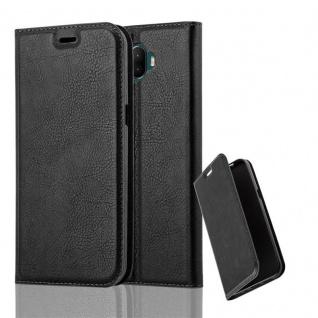 Cadorabo Hülle für WIKO WIM in NACHT SCHWARZ - Handyhülle mit Magnetverschluss, Standfunktion und Kartenfach - Case Cover Schutzhülle Etui Tasche Book Klapp Style
