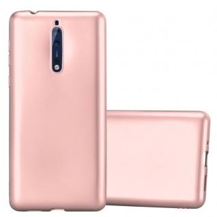 Cadorabo Hülle für Nokia 8 2017 in METALLIC ROSÉ GOLD - Handyhülle aus flexiblem TPU Silikon - Silikonhülle Schutzhülle Ultra Slim Soft Back Cover Case Bumper