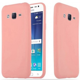 Cadorabo Hülle für Samsung Galaxy J2 2015 in CANDY ROSA - Handyhülle aus flexiblem TPU Silikon - Silikonhülle Schutzhülle Ultra Slim Soft Back Cover Case Bumper