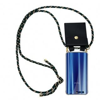 Cadorabo Handy Kette für Honor 9 in CAMOUFLAGE - Silikon Necklace Umhänge Hülle mit Gold Ringen, Kordel Band Schnur und abnehmbarem Etui ? Schutzhülle