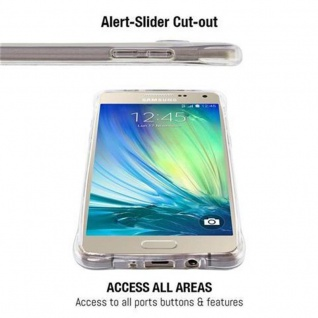 Cadorabo Hülle für Samsung Galaxy A5 2015 - Hülle in KOMPLETT TRANSPARENT ? Handyhülle aus TPU Silikon mit Schlaufe im Small Waist Design - Silikonhülle Schutzhülle Ultra Slim Soft Back Cover Case Bumper - Vorschau 4