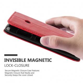 Cadorabo Hülle für Nokia Lumia 530 in APFEL ROT Handyhülle mit Magnetverschluss, Standfunktion und Kartenfach Case Cover Schutzhülle Etui Tasche Book Klapp Style - Vorschau 5