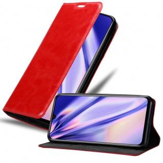 Cadorabo Hülle für Honor 20 LITE in APFEL ROT - Handyhülle mit Magnetverschluss, Standfunktion und Kartenfach - Case Cover Schutzhülle Etui Tasche Book Klapp Style