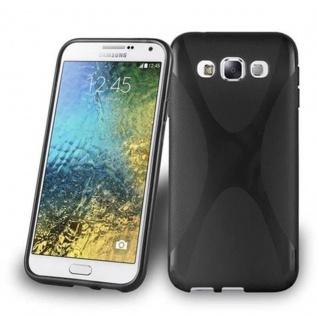 Cadorabo Hülle für Samsung Galaxy E5 in OXID SCHWARZ ? Handyhülle aus flexiblem TPU Silikon ? Silikonhülle Schutzhülle Ultra Slim Soft Back Cover Case Bumper
