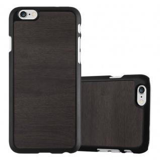 Cadorabo Hülle für Apple iPhone 6 PLUS / iPhone 6S PLUS in WOODY SCHWARZ - Hardcase Handyhülle aus Plastik gegen Kratzer und Stöße - Schutzhülle Bumper Ultra Slim Back Case Hard Cover
