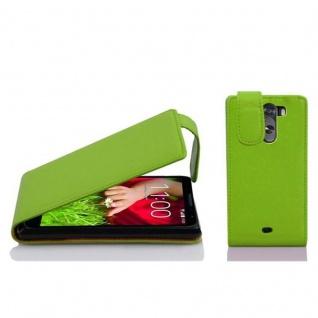 Cadorabo Hülle für LG G2 MINI in APFEL GRÜN - Handyhülle im Flip Design aus strukturiertem Kunstleder - Case Cover Schutzhülle Etui Tasche Book Klapp Style