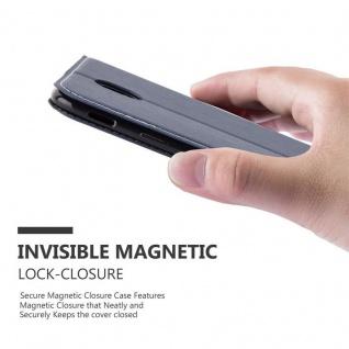 Cadorabo Hülle für Samsung Galaxy J3 2017 in BLAU BRAUN - Handyhülle mit Magnetverschluss, Standfunktion und Kartenfach - Case Cover Schutzhülle Etui Tasche Book Klapp Style - Vorschau 5
