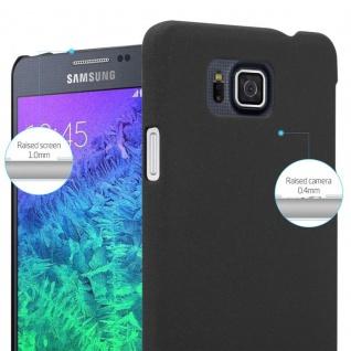 Cadorabo Hülle für Samsung Galaxy ALPHA in FROSTY SCHWARZ - Hardcase Handyhülle aus Plastik gegen Kratzer und Stöße - Schutzhülle Bumper Ultra Slim Back Case Hard Cover - Vorschau 4