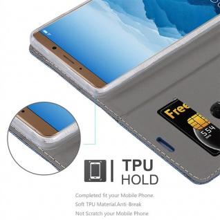Cadorabo Hülle für Huawei MATE 10 in DUNKEL BLAU SCHWARZ - Handyhülle mit Magnetverschluss, Standfunktion und Kartenfach - Case Cover Schutzhülle Etui Tasche Book Klapp Style - Vorschau 2