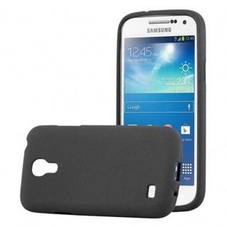 Cadorabo Hülle für Samsung Galaxy S4 MINI in FROST SCHWARZ - Handyhülle aus flexiblem TPU Silikon - Silikonhülle Schutzhülle Ultra Slim Soft Back Cover Case Bumper