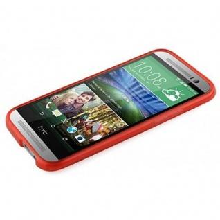 Cadorabo Hülle für HTC ONE M8 (2.Gen.) in INFERNO ROT ? Handyhülle aus flexiblem TPU Silikon ? Silikonhülle Schutzhülle Ultra Slim Soft Back Cover Case Bumper - Vorschau 3