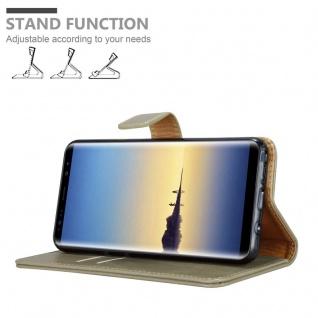 Cadorabo Hülle für Samsung Galaxy NOTE 8 in CAPPUCCINO BRAUN ? Handyhülle mit Magnetverschluss, Standfunktion und Kartenfach ? Case Cover Schutzhülle Etui Tasche Book Klapp Style - Vorschau 4