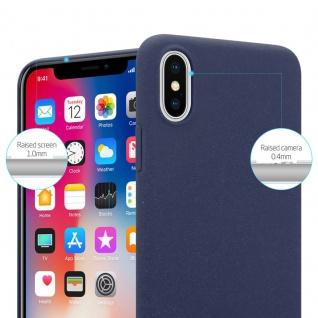 Cadorabo Hülle für Apple iPhone X / XS in FROSTY BLAU - Hardcase Handyhülle aus Plastik gegen Kratzer und Stöße - Schutzhülle Bumper Ultra Slim Back Case Hard Cover - Vorschau 2