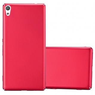 Cadorabo Hülle für Sony Xperia XA ULTRA in METALL ROT - Hardcase Handyhülle aus Plastik gegen Kratzer und Stöße - Schutzhülle Bumper Ultra Slim Back Case Hard Cover