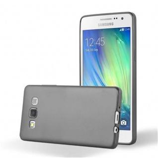 Cadorabo Hülle für Samsung Galaxy A3 2015 in METALLIC GRAU - Handyhülle aus flexiblem TPU Silikon - Silikonhülle Schutzhülle Ultra Slim Soft Back Cover Case Bumper
