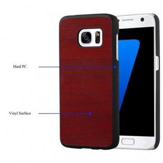 Cadorabo Hülle für Samsung Galaxy S7 in WOODY ROT ? Hardcase Handyhülle aus Plastik gegen Kratzer und Stöße ? Schutzhülle Bumper Ultra Slim Back Case Hard Cover - Vorschau 4