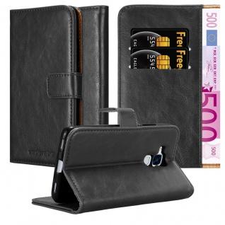Cadorabo Hülle für Honor 5C in GRAPHIT SCHWARZ Handyhülle mit Magnetverschluss, Standfunktion und Kartenfach Case Cover Schutzhülle Etui Tasche Book Klapp Style