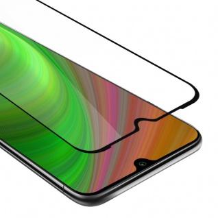 Cadorabo Vollbild Panzer Folie für Xiaomi Mi A3 - Schutzfolie in TRANSPARENT mit SCHWARZ - Gehärtetes (Tempered) Display-Schutzglas in 9H Härte mit 3D Touch