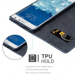 Cadorabo Hülle für Samsung Galaxy NOTE EDGE in DUNKEL BLAU BRAUN ? Handyhülle mit Magnetverschluss, Standfunktion und Kartenfach ? Case Cover Schutzhülle Etui Tasche Book Klapp Style - Vorschau 4