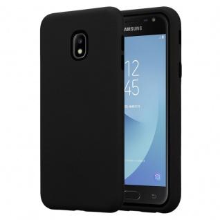 Cadorabo Hülle für Samsung Galaxy J3 2017 in ONYX SCHWARZ ? Hybrid Handyhülle mit TPU Silikon Innenseite und 2teiliger Kunststoff Außenseite ? Schutzhülle Hybrid Hardcase Back Case