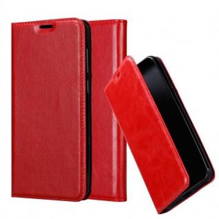 Cadorabo Hülle für Honor 8X in APFEL ROT Handyhülle mit Magnetverschluss, Standfunktion und Kartenfach Case Cover Schutzhülle Etui Tasche Book Klapp Style