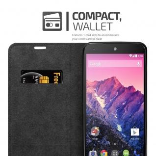 Cadorabo Hülle für LG NEXUS 5 in APFEL ROT Handyhülle mit Magnetverschluss, Standfunktion und Kartenfach Case Cover Schutzhülle Etui Tasche Book Klapp Style - Vorschau 3