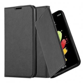 Cadorabo Hülle für LG STYLUS 2 in NACHT SCHWARZ - Handyhülle mit Magnetverschluss, Standfunktion und Kartenfach - Case Cover Schutzhülle Etui Tasche Book Klapp Style